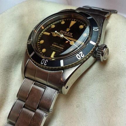 detailed look e0452 b6b32 ロレックスサブマリーナ6538の買取価格の最高値は?売ると売却 ...